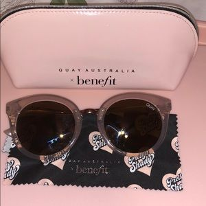 Quay Australia x benefit cat eye sunglasses